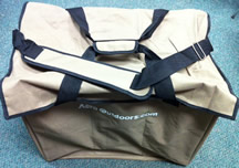 6 Pocket Duck Bag with Velcro Lid & SHoulder Strap & Tote Handles plus bottom drainage